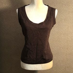 St John shimmery knit shell sleeveless tank top